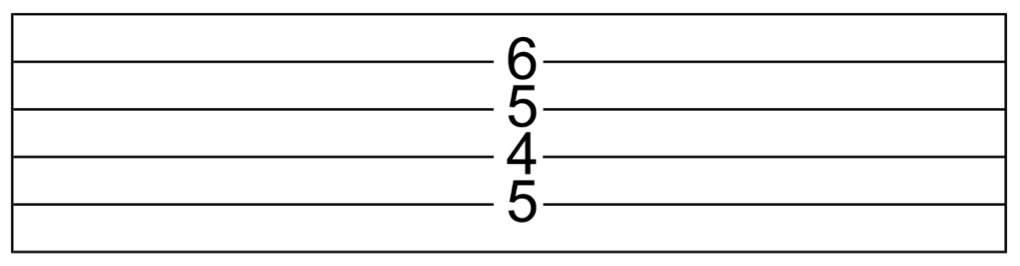 D7#9 in guitar tab