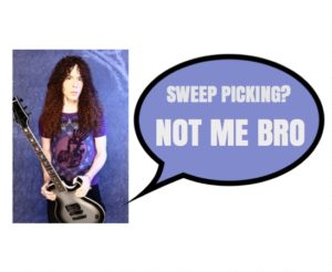 Marty Friedman definitely sweep picks