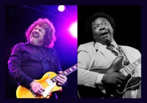 Guitar masters Gary Moore and BB King