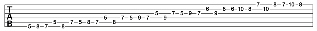 Minor Scale played in thirds, ascending