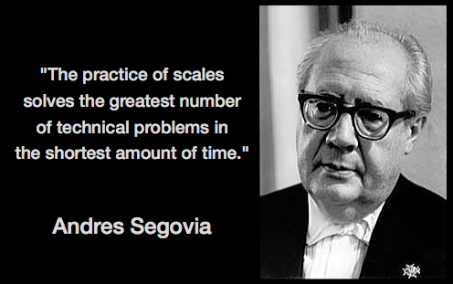 Segovia scale practice solves problems