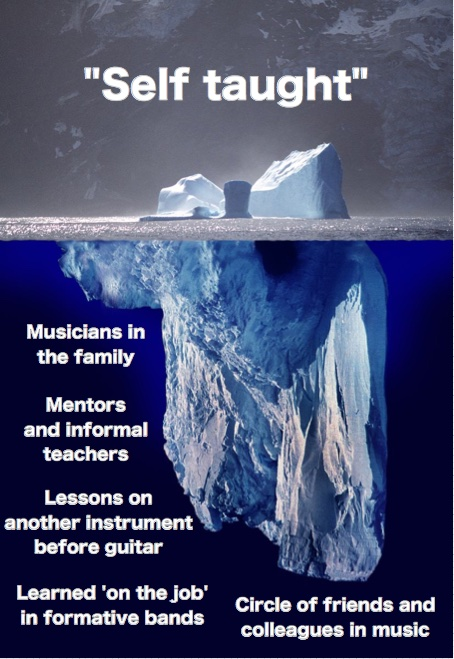 Myth of self taught musicians