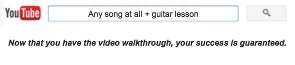 Learning songs on youtube guitar
