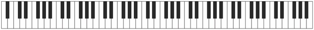 Grand piano 88-key keyboard
