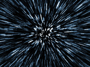 Hyperspace image representing speed